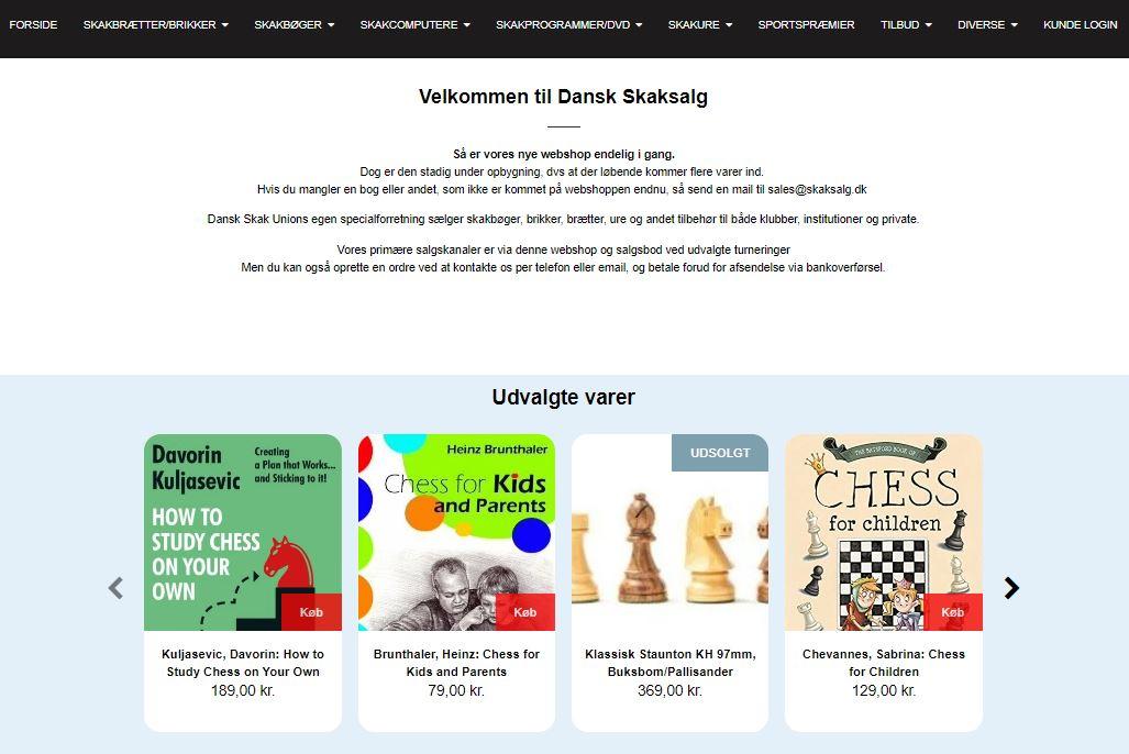 Skaksalget har fået ny hjemmeside