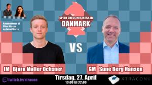 Første match i Speed Chess Mesterskab – Danmark